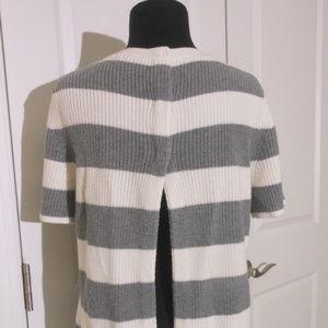 BANANA REPUBLIC Open Back Rugby Stripe Sweater S